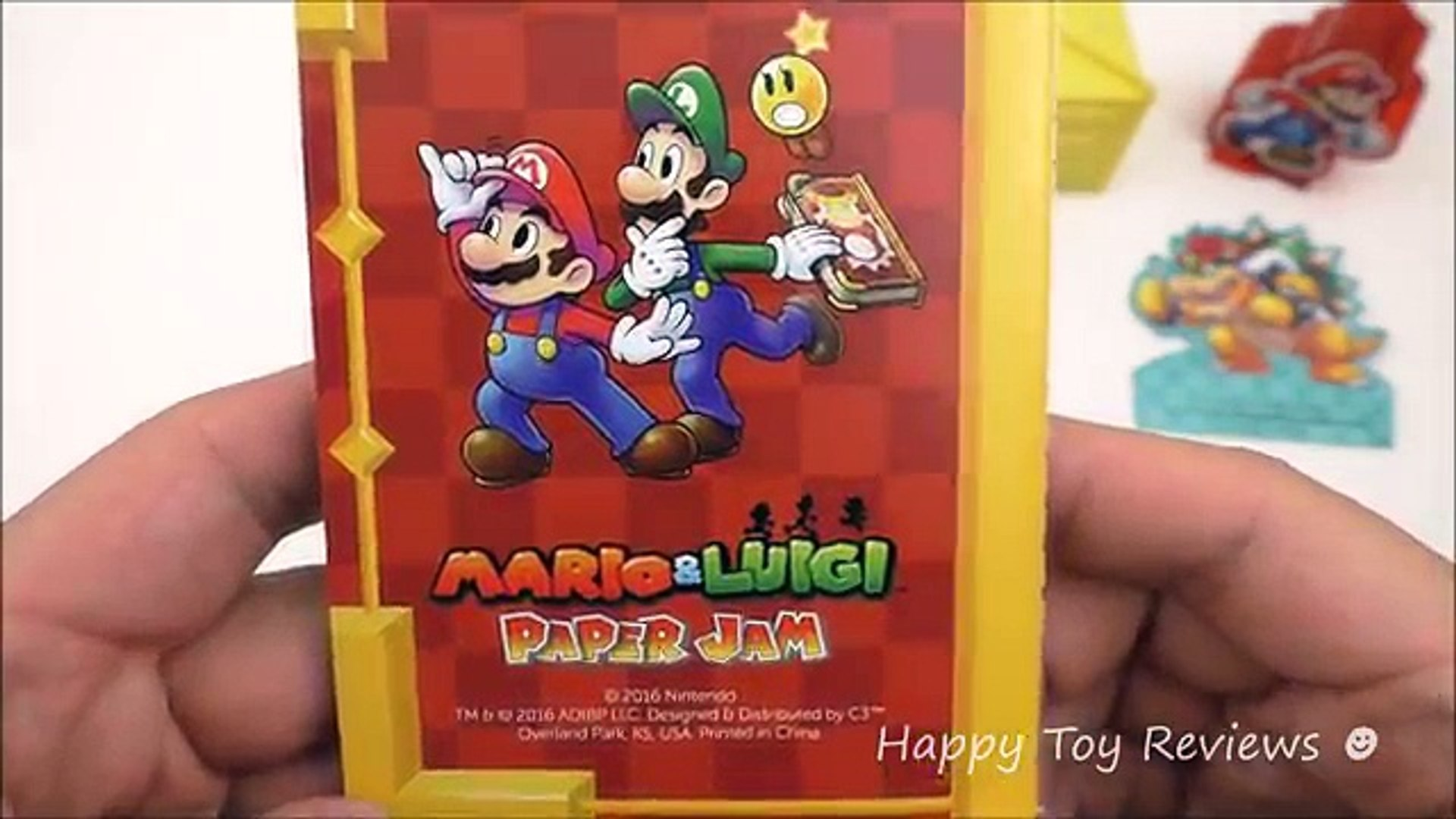 2016 Nintendo Mario And Luigi Paper Jam Set Of 5 Sonic Drive In Kids Meal Toys Video Revie