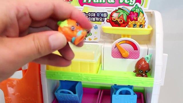 Shopkins Bakery Friends Market Shop Playset Toys 샾킨즈 후르츠샾 마트놀이 뽀로로 타요 폴리 장난감