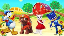 Dessin animé enfants les couleurs Canard pour têtes de Apprendre masques patrouille patte vidéo avec mal pj Donal pas