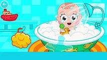 Lindo bebé médico Cuidado bebé baño tiempo gracioso dibujos animados juego para Niños Niños niños pequeños