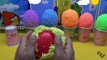 Argile des œufs mousse gelé souris porc jouets Peppa surprise elsa minnie mickey surprise