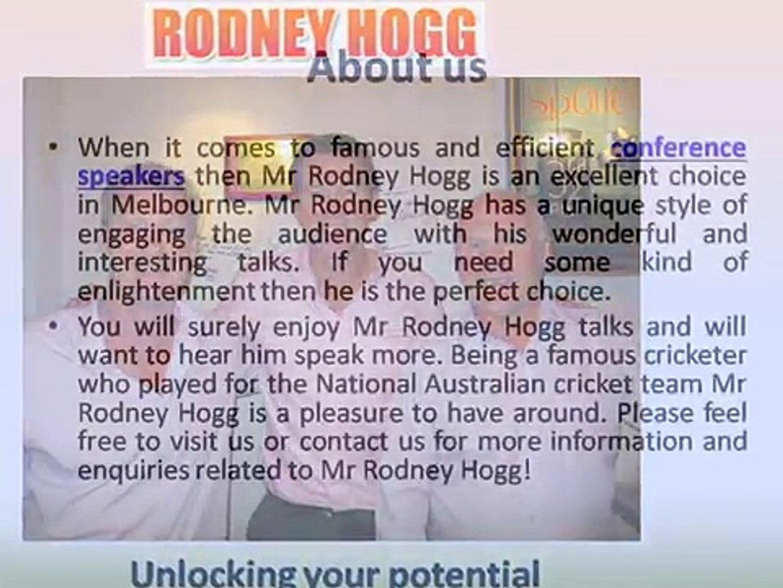 Master of Ceremonies Melbourne - Rodney Hogg