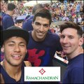 Lionel Messi posted a photo on his Instagram account with Neymar and Luis Suarez as FC