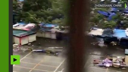 Un puissant typhon Hato tue douze personne en Chine