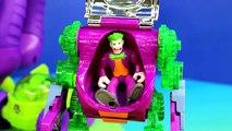 Et homme chauve-souris pêcheur prix rouge-gorge vagabond super-héros avec Imaginext robot riddler joker dc