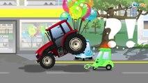Tractor - Giant Tractors and Obstacles on the road | Traktor - Duże Traktor i Przeszkody na drodze