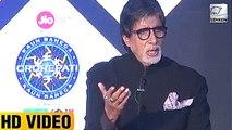 Amitabh Bachchan TROLLS A Media Reporter   Kaun Banega Crorepati 9 Launch