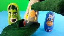 Marvel AVENGERS Nesting Doll, Stacking Cups / Hulk, Captain America, Thor, Iron Man Surpri