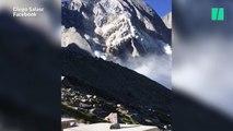 Les images de l'impressionnant glissement de terrain qui a fait huit disparus en Suisse