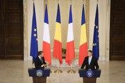 Conférence de presse conjointe d'Emmanuel Macron et de Klaus Iohannis, Président de la Roumanie