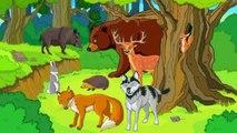Para Enseñamos a los animales de todas las series de dibujos animados en una fila desarrollo de la naturaleza interna más pequeña