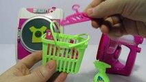 Et fer blanchisserie examen jouet cuve jumelle déballage la lessive avec Jeu de machine