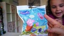 Des balles bain Achevée complet à lintérieur porc jouets avec Peppa fizzer surprise collection hd