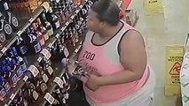Une femme vole 9 bouteilles d'alcool dans un magasin en les cachant un peu partout