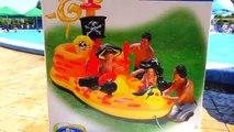 Isla pirata Niños para super piscina de trampolín juegos reproducirT enorme barco inflable del pirata