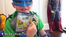 Homme chauve-souris le plus grand par par Oeuf première à lintérieur super-héros jouets mondes surprise, hobbykidstv