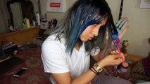 Encore une fois et Bleu bricolage teint cheveux coiffures Il y a Salut Jai le dans mon Ceci Lmao accessiories tutoria