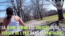 Il enduit la culotte de sa femme copine avec le piment le plus fort du monde avant de sortir faire un jogging