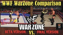 WWF War Zone Game Comparison - BETA vs FINAL Version - History of WWF - Wrestling Gold