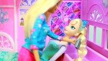 Poupée gelé cheveux maison parodie farce Princesse arc en ciel Barbie disney popstar alltoycollector