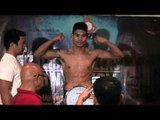 Gonzales, Canillas make weight for lightweight title bout