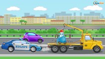 The Police Car + 1 HOUR kids videos Catching Bad Cars the Race Car | Police Chase Video For Kids