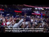 Republican Party nominates Donald Trump for president