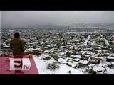 Intensa nevada cubre gran parte de Nuevo León / Yuriria Sierra