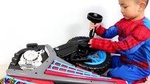 Это на  батарея велосипед на Это десять питание поездка Игрушки распаковка яд� с Дети.spiderman 6v motorcycle.toys