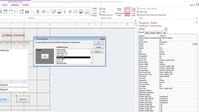Access VBA - How to Transfer From TextBox To a ListBox Using