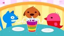 Bébé café les couleurs éducation amusement amusement Jeu des jeux Apprendre mini- animal de compagnie préscolaire sagou