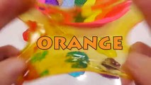 Bebé baño colores muñeca espuma cómo gelatina Aprender hacer monstruo arco iris Limo tiempo para color