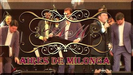 Milonga por Ariel Ardit y orquesta en Mundial de Tango 2017, cantando milonga.