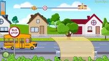 Autobuses coche Niños para Niños Policía Escuela pueblo vídeos pinkfong