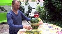 Explosion pastèque enfants pour Melon deau Défi exploser une pastèque gommes Chall vidéo hilarante