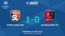 J4: Stade Lavallois MFC - US Boulogne CO (1-0), le résumé