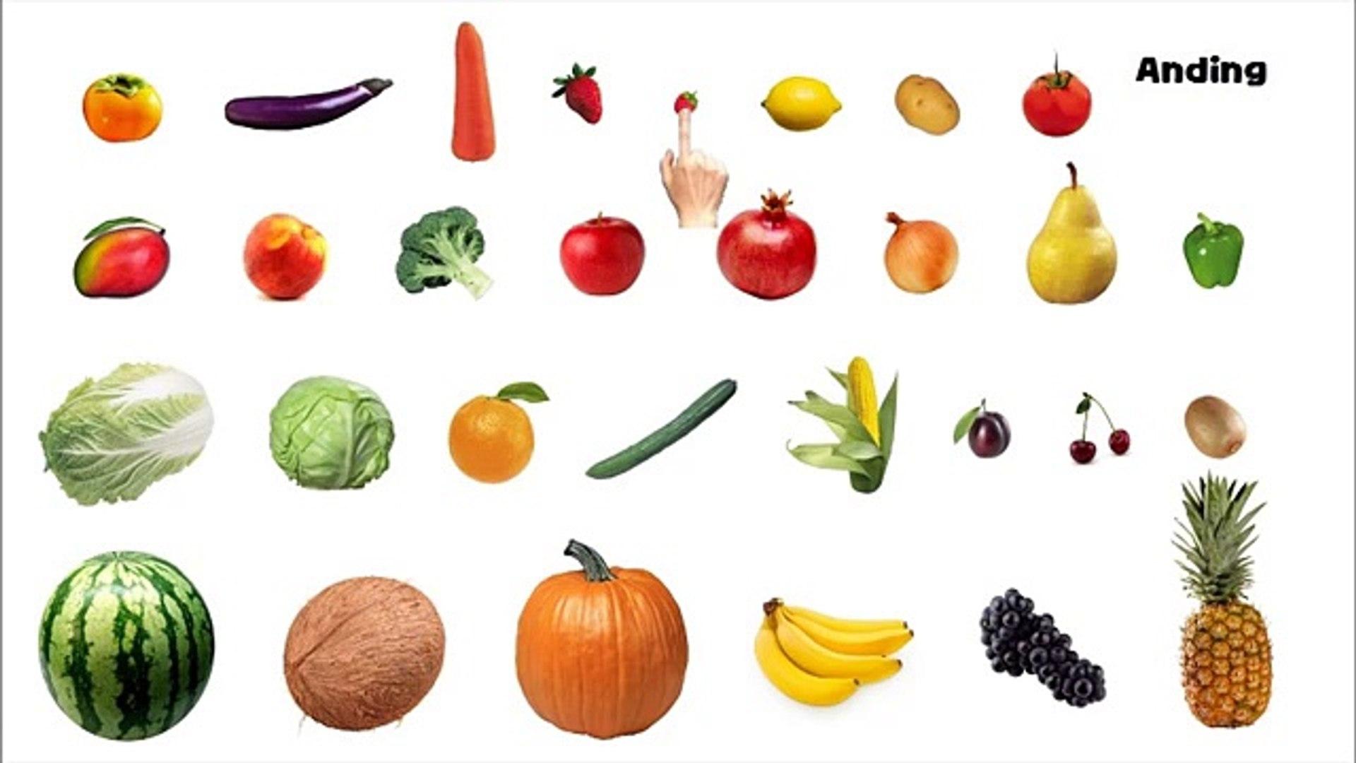 Обучение цвета с фрукты и овощи фотография играть