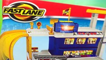 Fastlane Rescue Fire Station - Fire Truck DieCast Car Toys Recue Helicopter & Lightning Mc