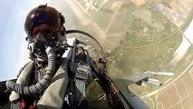 Aérien avion et cabine de pilotage faucon combat atterrissage décollage vue F-16 |