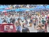 Vacacionistas abarrotan playas mexicanas en Semana Santa/ Atalo Mata