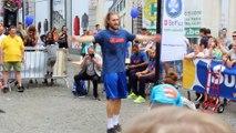 Daniel Goethals sur l'opération Street Basket à Mons