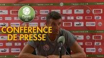 Conférence de presse Nîmes Olympique - Havre AC (1-0) : Bernard BLAQUART (NIMES) - Oswald TANCHOT (HAC) - 2017/2018