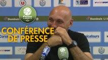 Conférence de presse Tours FC - AC Ajaccio (1-3) : Gilbert  ZOONEKYND (TOURS) - Olivier PANTALONI (ACA) - 2017/2018