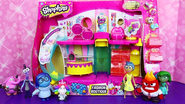 INSIDE OUT Charer Toys Shop at NEW Shopkins Fashion Boutique HUGE Season 3 Playset *| ,