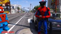Arrêté les couleurs pour enfants Apprendre argent garderie policier rimes homme araignée vol Joker
