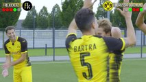 freekickerz vs BVB Pros - ULTIMATE FOOTBALL CHALLENGES in new BVB CL Shirt