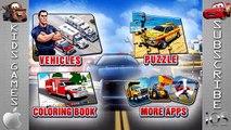 Application voiture feu pour enfants remorquer un camion Véhicules Police de la construction | enfants