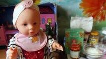 Video para cómo hacer puré muñeca bebé nació con la muñeca Baby Born