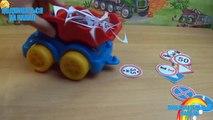 Coches de dibujos animados mundo de las máquinas de 31 máquinas de la serie de camiones señales de tráfico de camiones de remolque