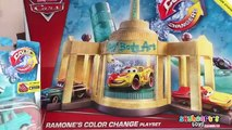 NEW Pixar Cars 2 Color Changers Ramones Auto Shop Lightning McQueen Mater Boost Sally She